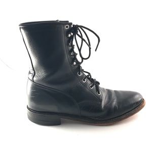 Justin Lace Up Ankle Boot Black Leather 10.5 / 8.5
